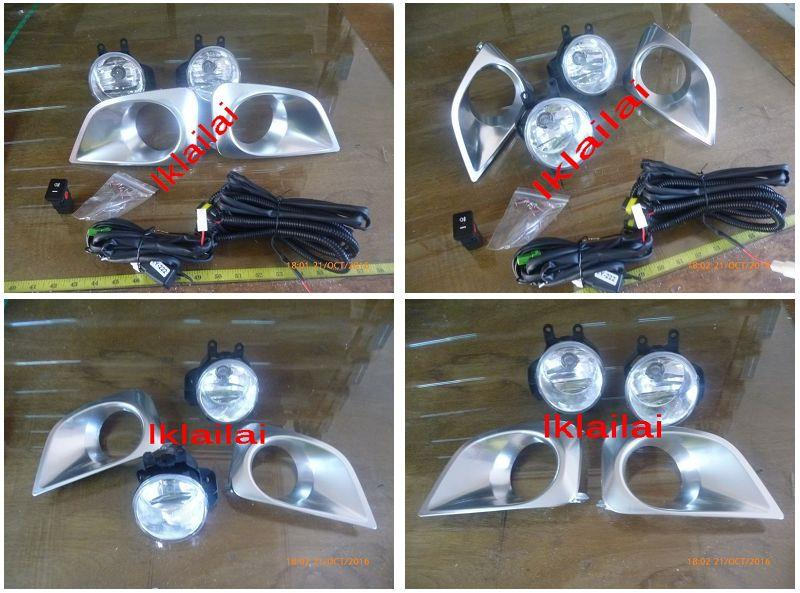 Toyota Vios '13-14 Fog Lamp Crystal Wiring + Switch + Chrome Cover