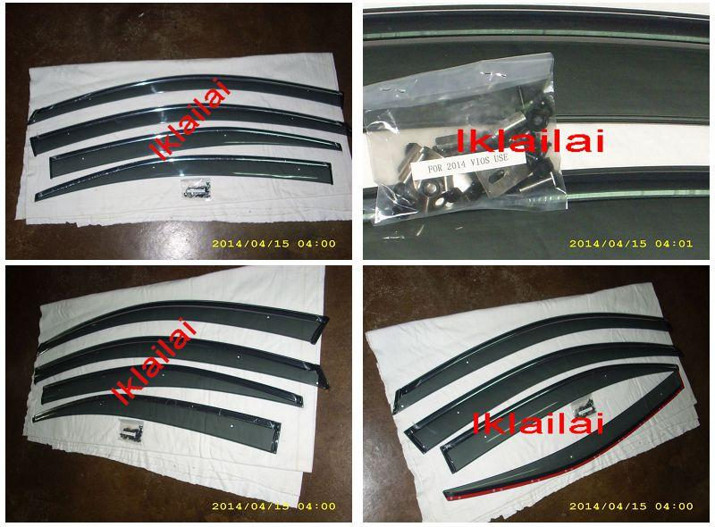 TOYOTA VIOS '13-14  Injection Type Door Visor With Chrome Lining 4pcs
