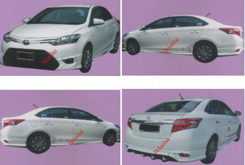 Toyota Vios '13-14 TRD V2 Full Set Skirting Body Kit Painted [PU]