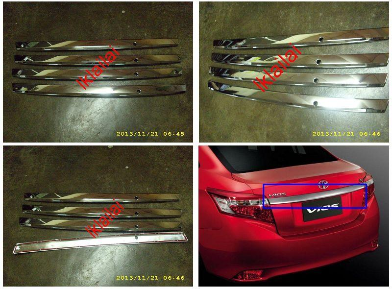 Toyota Vios '13 Rear Trunk Cover Lip Chrome
