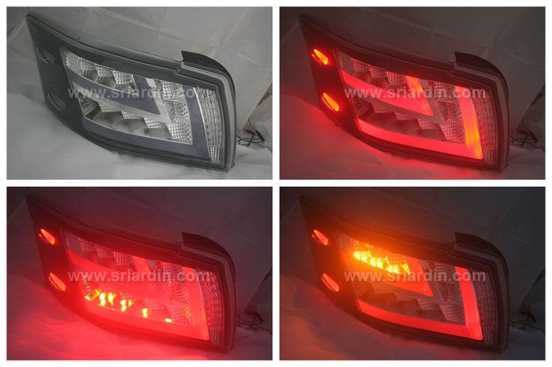 Toyota Vios 14 Black Face Light Bar LED Tail Lamp ( JDM Style )