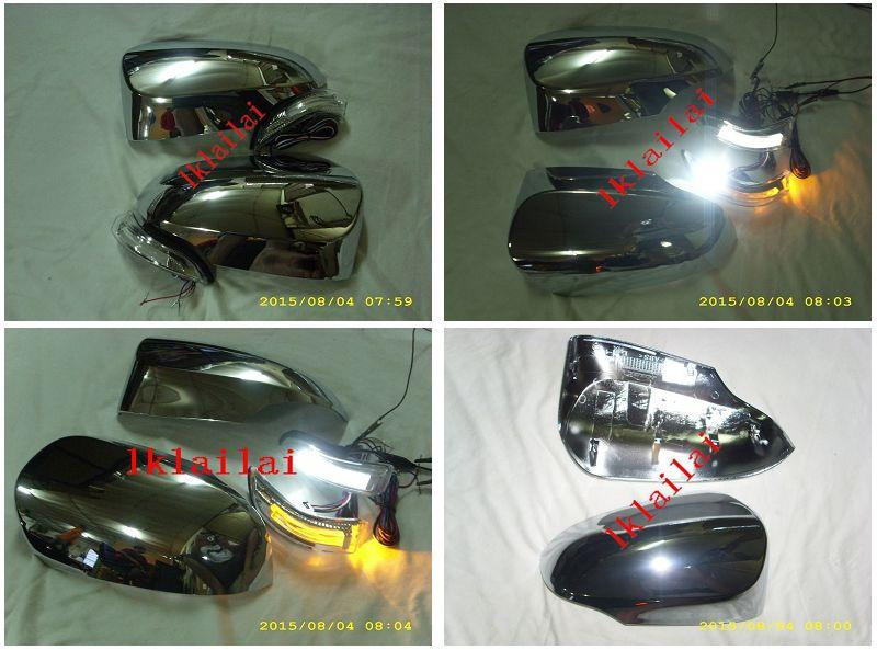 Toyota Vios '14 Side Mirror Chrome Cover with 2-Function LED Signal