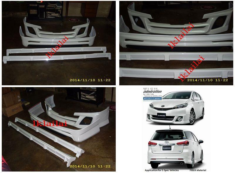 Toyota Wish '09 S Spec Admiration Full Set Skirting Body Kit [Painted]
