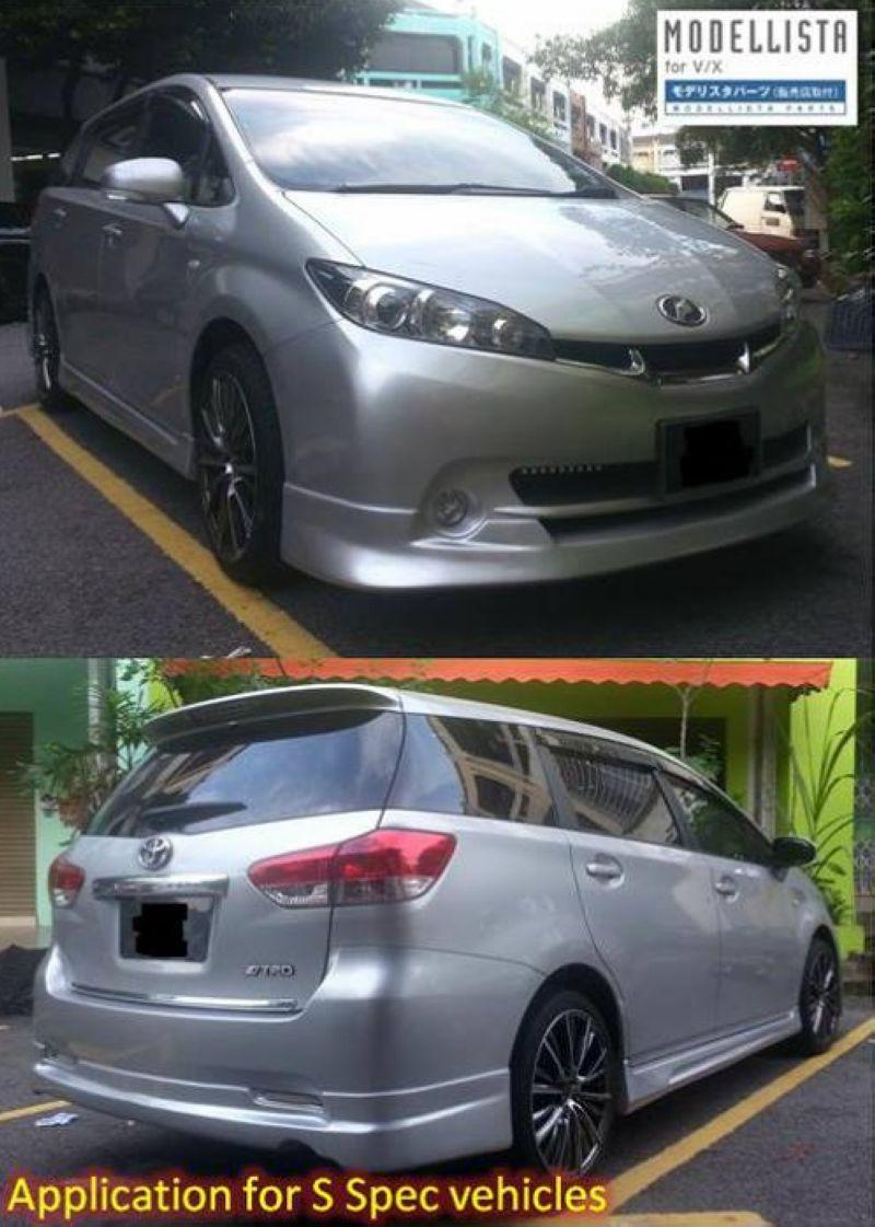 Toyota Wish '09 S Spec Modellista Full Set Skirting Body Kit [ABS] Pai