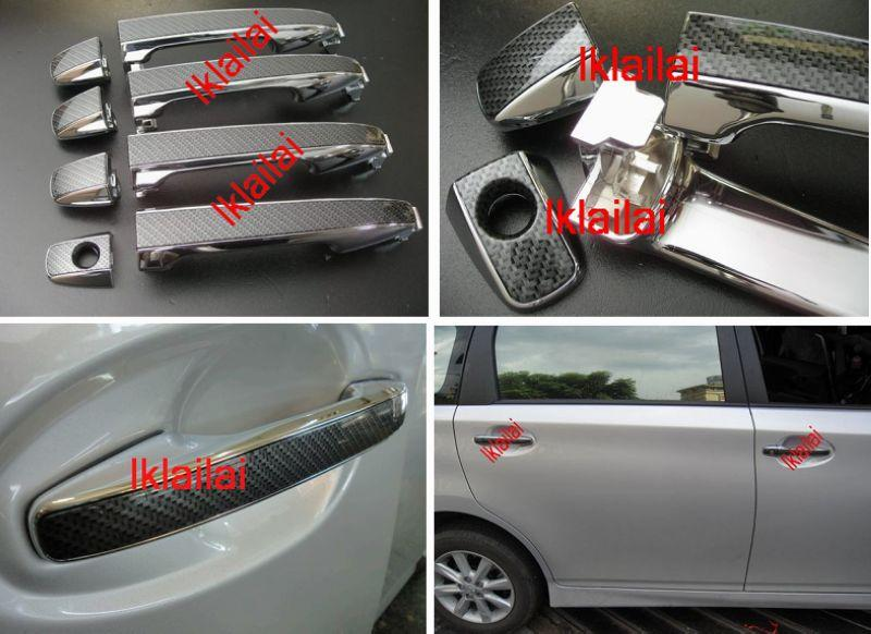 Toyota WISH/ALITS/YARIS/VIOS Door Handle Chrome + Carbon