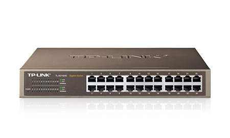 TP-LINK 24-PORT GIGABIT NETWORK SWITCH (TL-SG1024D)
