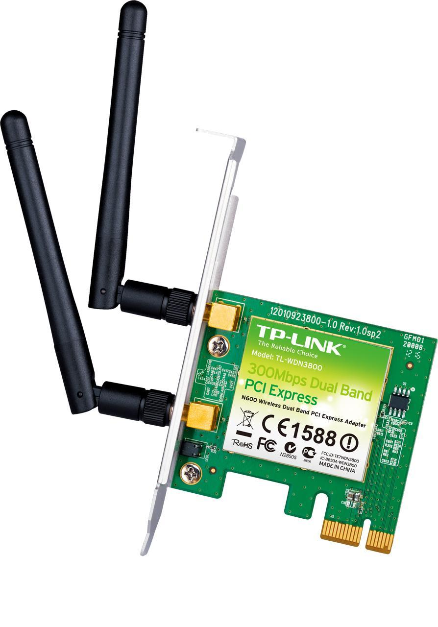 TP-LINK 300MBPS WIFI-N DUAL BAND PCI-E ADAPTER 2 ANTENNA (TL-WDN3800)