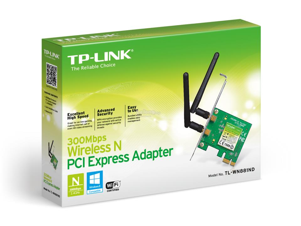 Tp Link 300Mbps Wireless N PCI Express Adapter TL-WN881ND