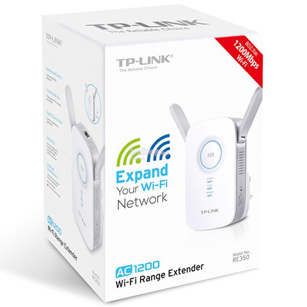 TP-LINK AC1200 Gigabit Wireless Extender WiFi Booster Repeater RE350