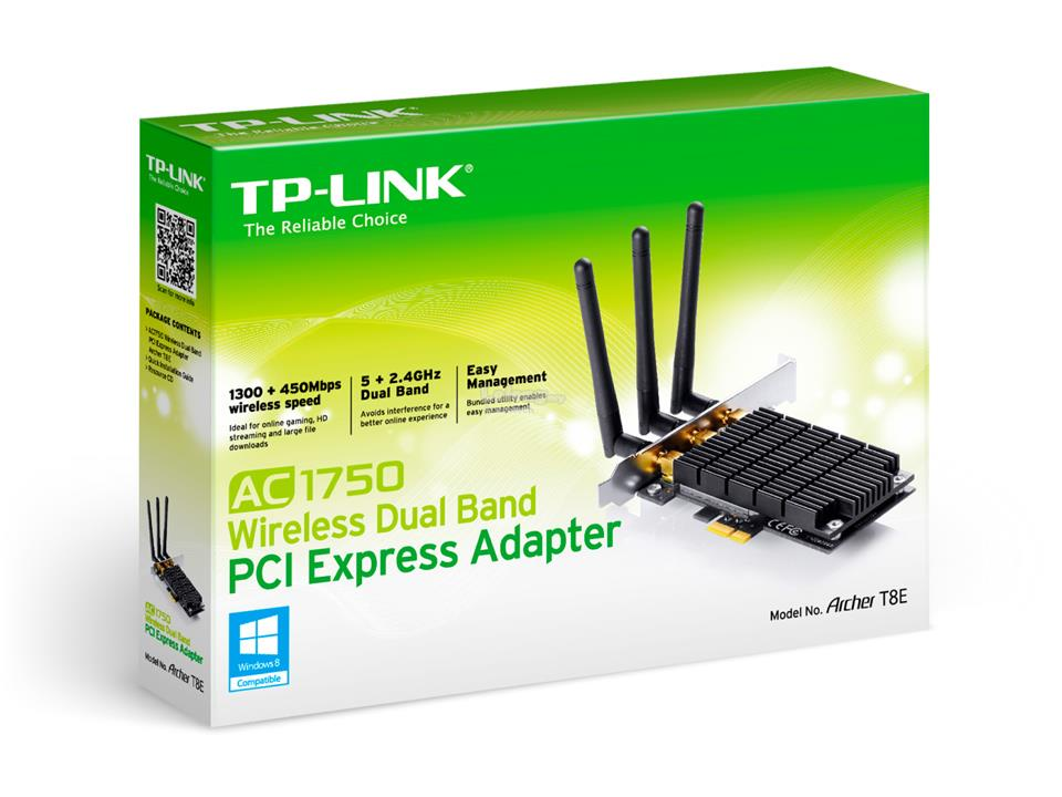 Tp Link AC1750 Wireless Dual Band PCI Express Adapter Archer T8E