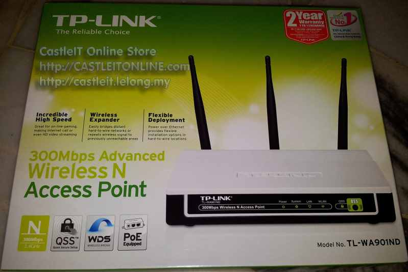 TP-Link Access Point Wireless N300mbps Advanced (TL-WA901ND)