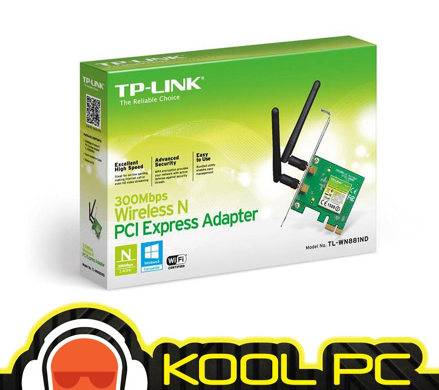 TP-LINK Adapter WiFi PCI-E N300MBPS (TL-WN881ND)