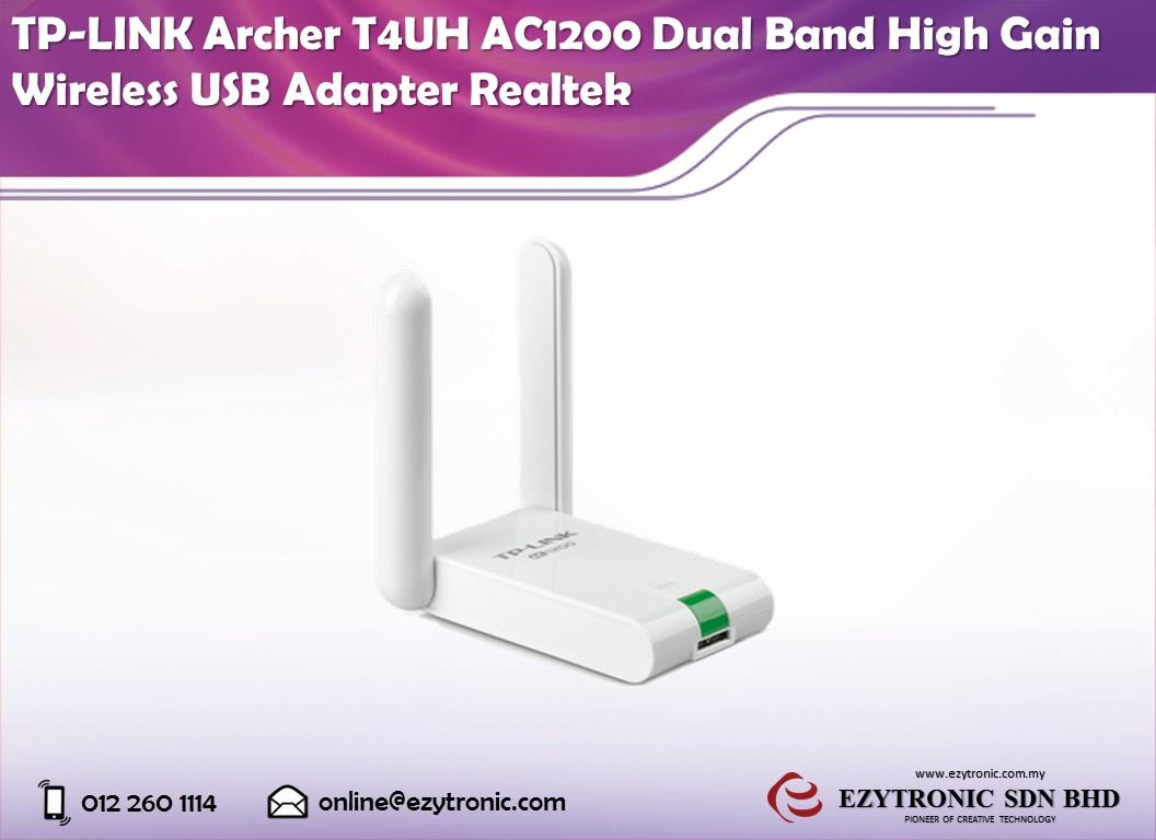 TP-LINK Archer T4UH AC1200 Dual Band High Gain Wireless USB Adapter