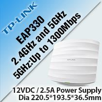 TP-LINK EAP330 WIRELESS DUAL BAND GIGABIT CEILING MOUNT