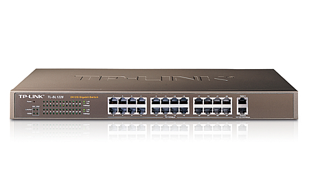 TP-Link Switch Standard 24-port + Gigabit 2-port Rackmount (TL-SL1226)