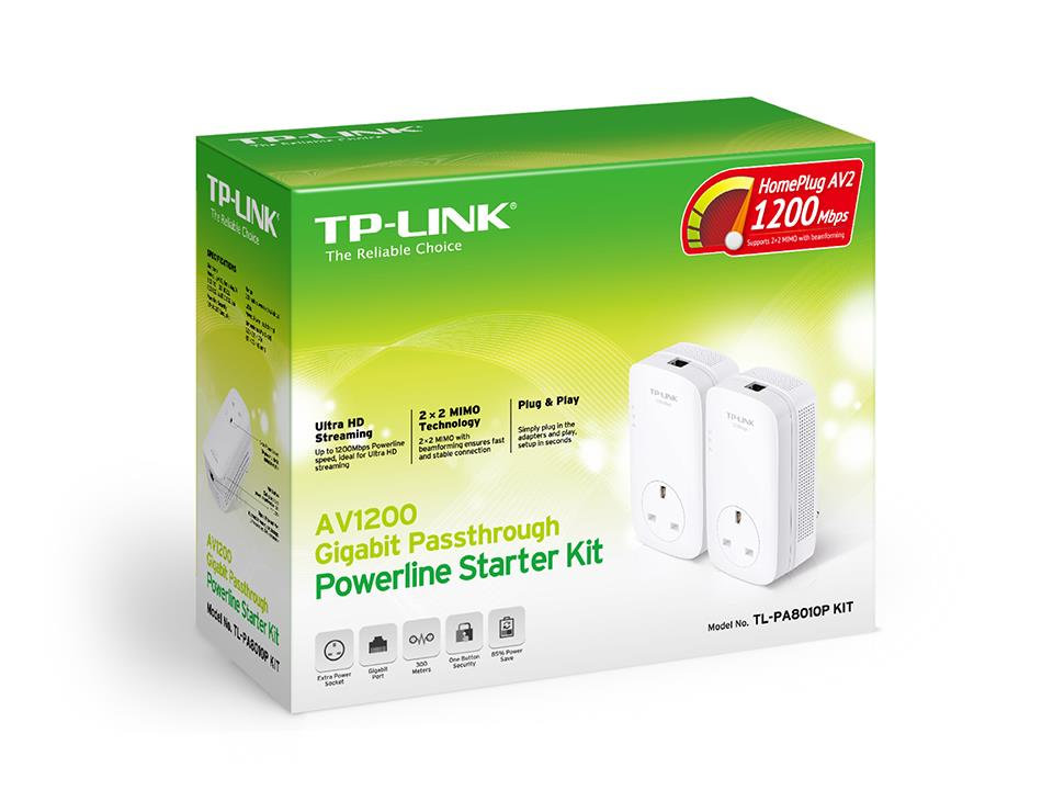 TP-link TL-PA8010p KIT AV1200 Gigabit homeplug Starter Kit