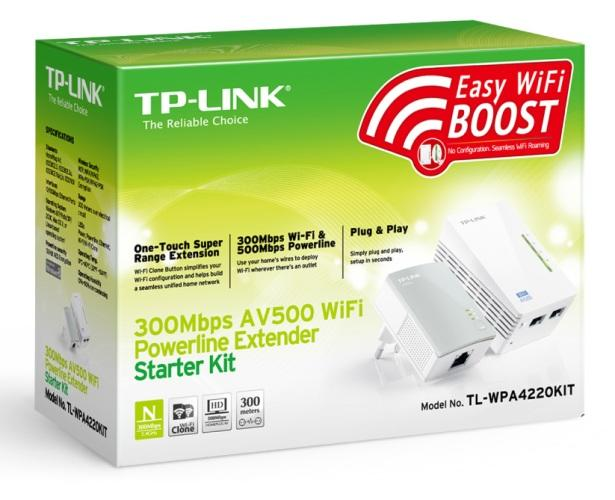 TP LINK TL-WPA4220KIT 300MBPS AV500 WiFi POWERLINE EXTENDER KIT 4220