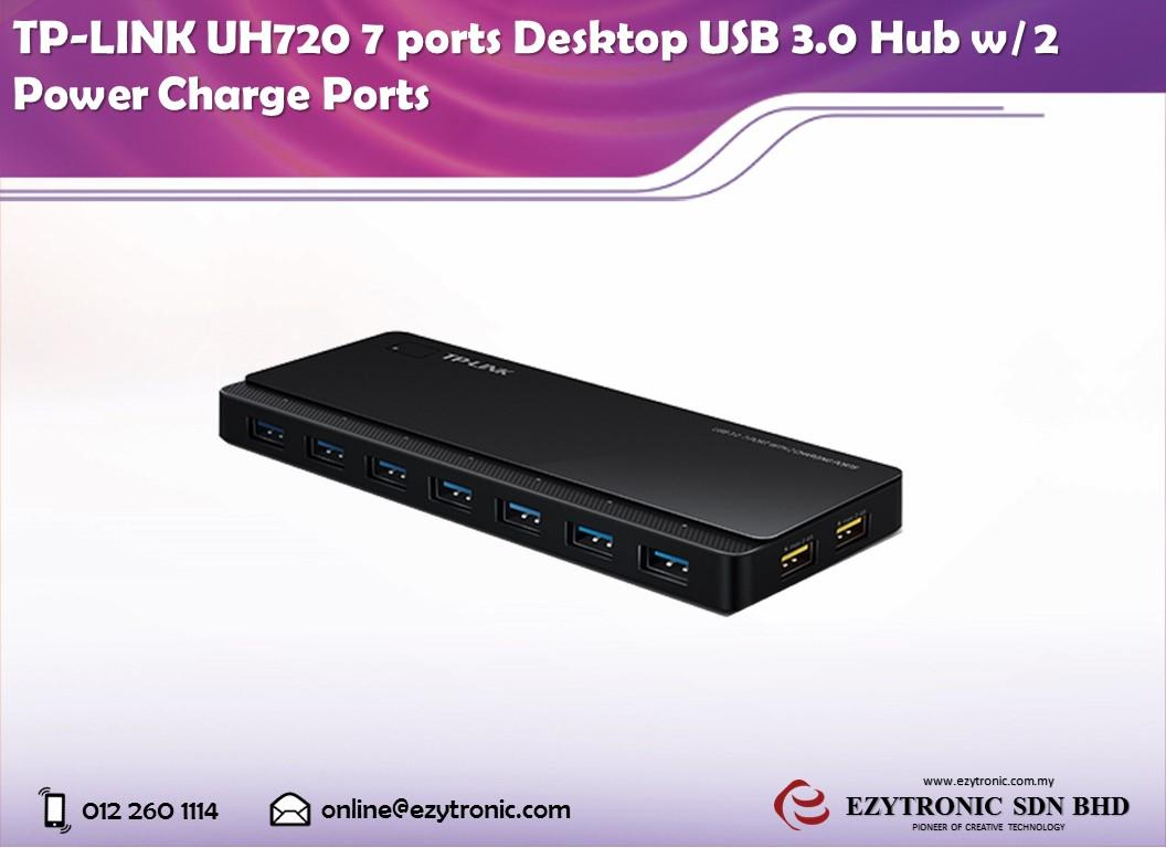 TP-LINK UH720 7 ports Desktop USB 3.0 Hub w/ 2 Power Charge Ports