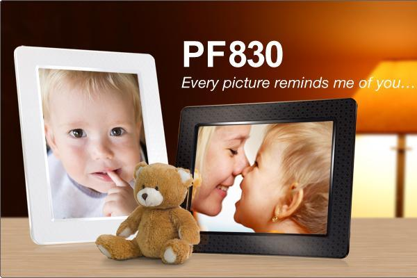 TRANSCEND 8' Hi-Res Built-in 4GB PF830 Digital Photo Frame 2 yrs warra..