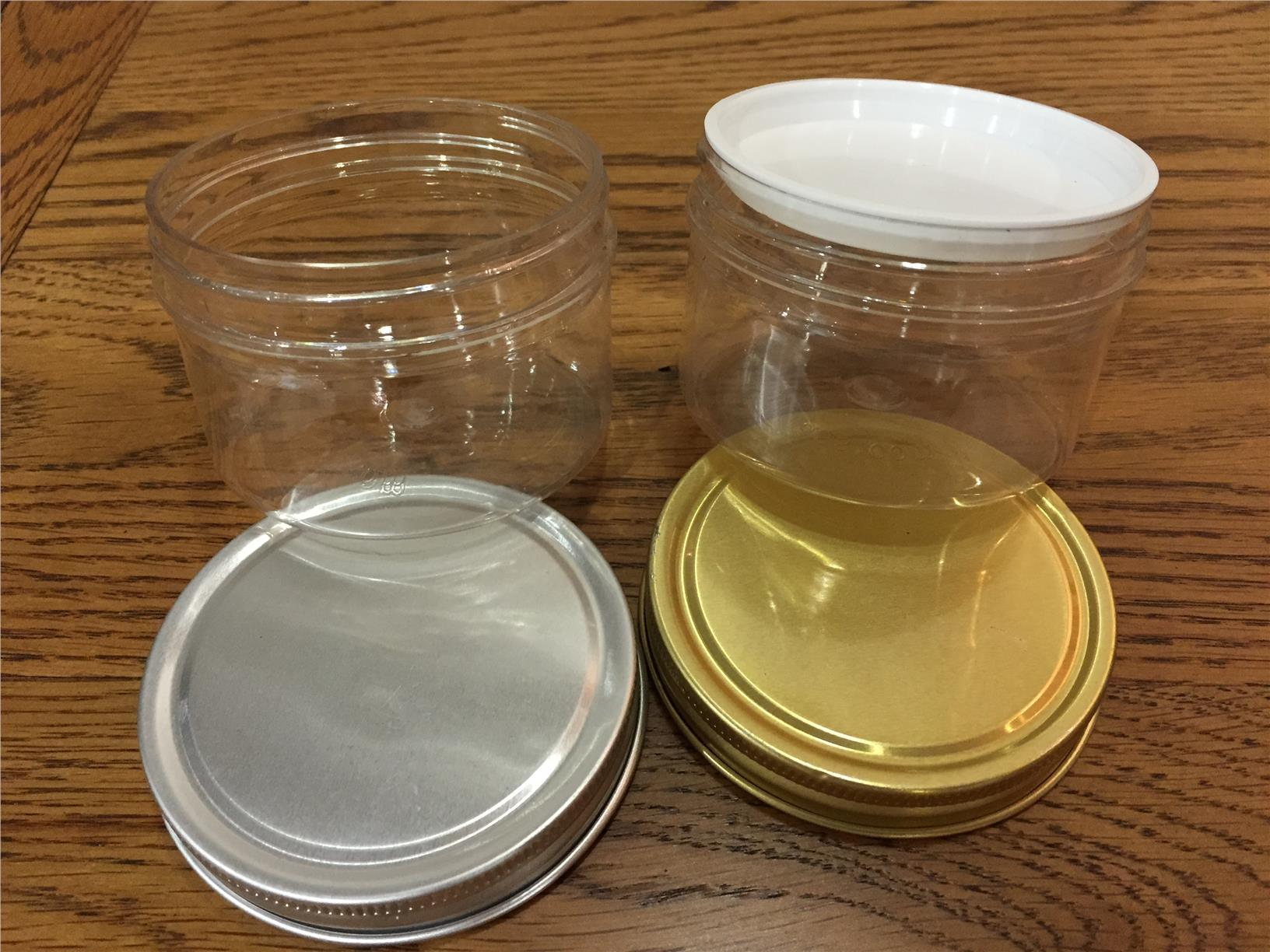 Round transparent container 100g 5 pcs