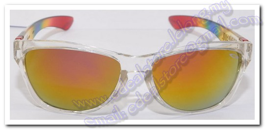 Transparent Oakley Jupiter Sunglass Orange Mirror Lens