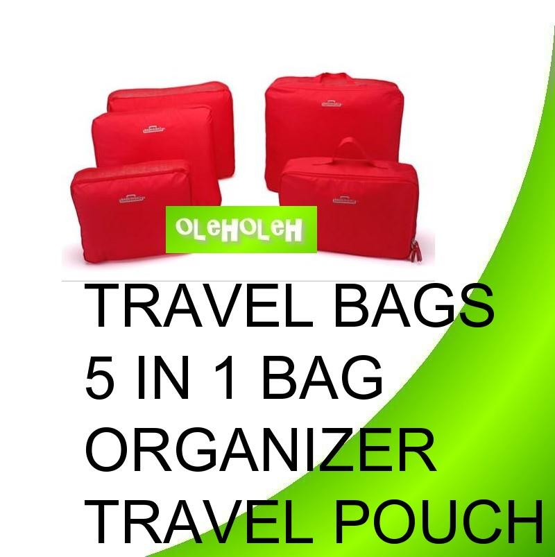 Travel Bags 5 in 1 Bag Organizer Travel Pouch