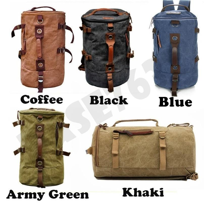 Travel Laptop  Canvas Man Men Backpack Back Pack Double Shoulder Bag