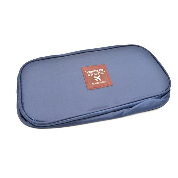 Travel Underwear Organizer Bag (Navy Blue)