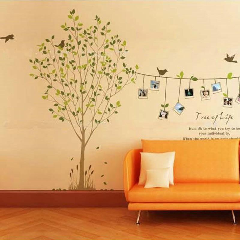 Tree Photo Frame Bird Removable Wall Sticker Decal Art DIY Home Decor