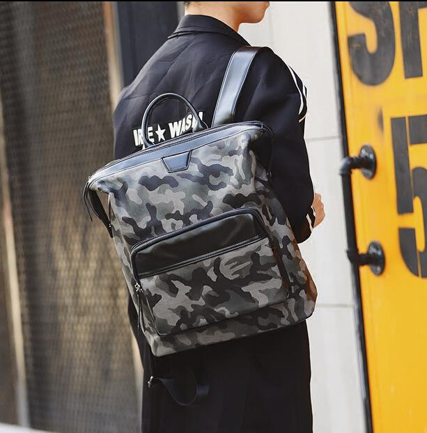 Trendy camouflage male backpack