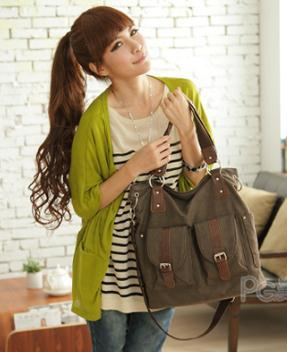 Trendy Canvas Bag - Free Shipping