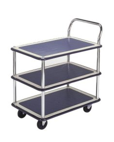 Trolley Hand Truck 1 Handle 3 Decker 300 Kgs Metal