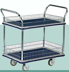 Trolley Hand Truck 2 Handle 2 Decker 300 Kgs Metal Netting
