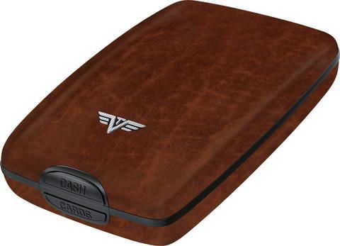 TRU VIRTU CASH & CARDS WALLET LEATHER - NATURAL BROWN
