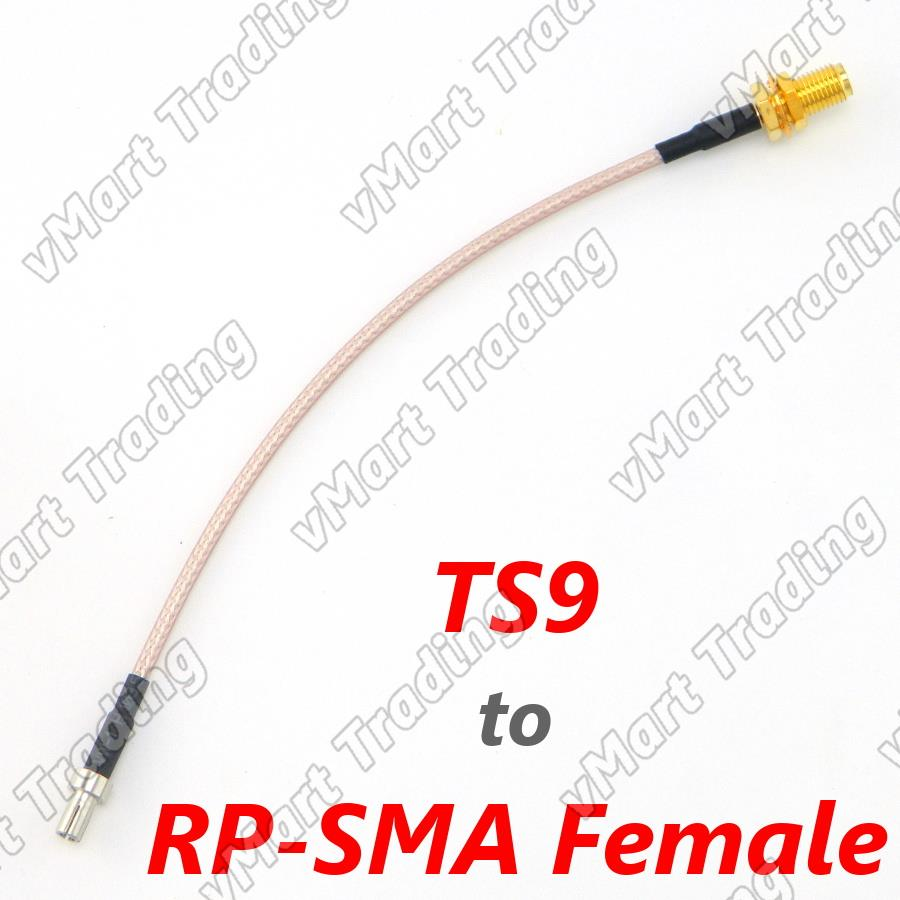 TS9 to RP-SMA Female Connector / Convertor / Pigtail