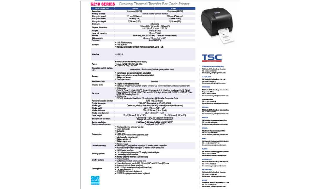 TSC BARCODE PRINTER G310 FREE INSTALLATION AND FREE 1 LABEL 35*25MM &