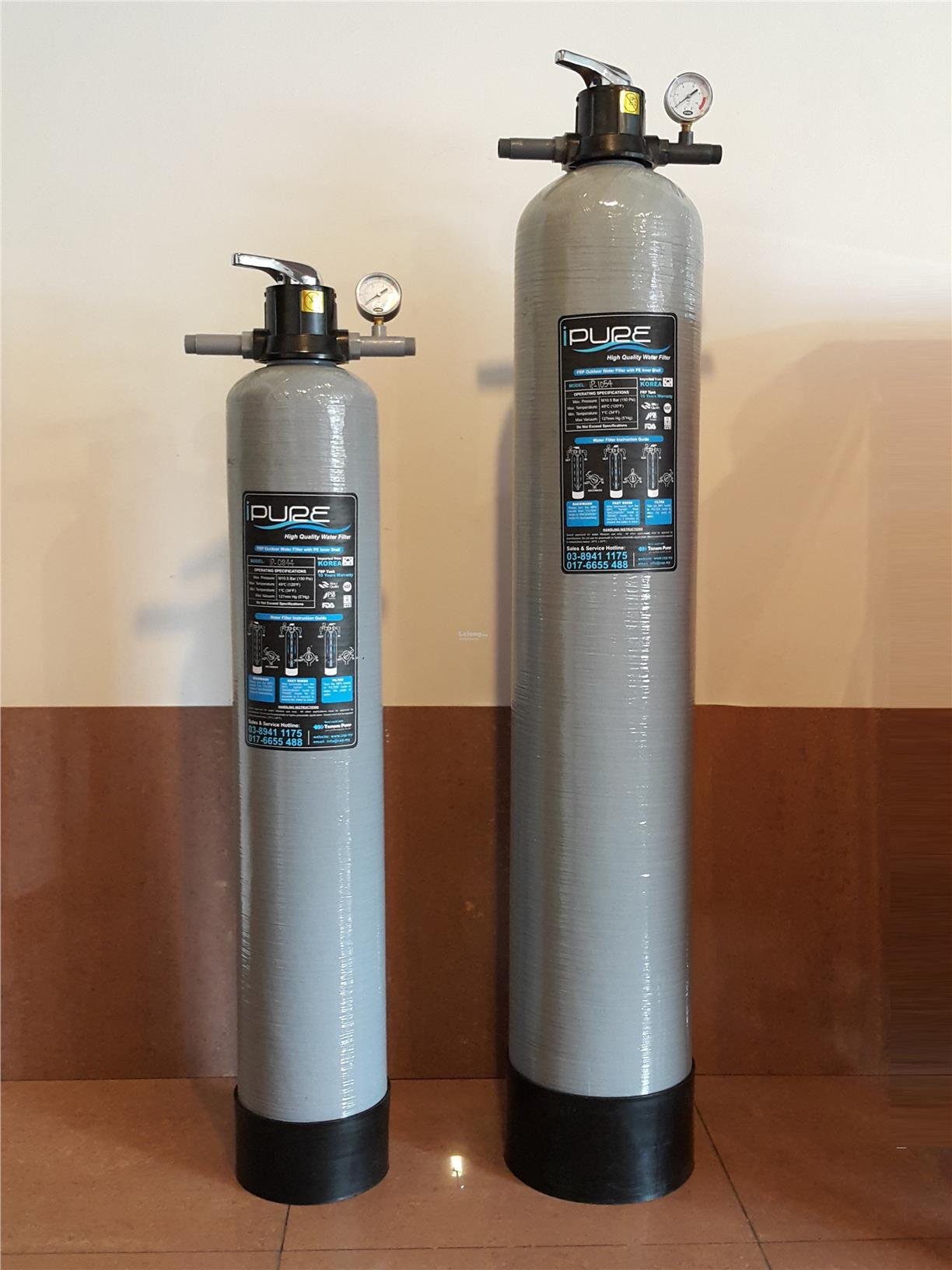 Tsunami iPure 10' x 1.45m FRP Outdoor Water Filter iP-1054 ID339463