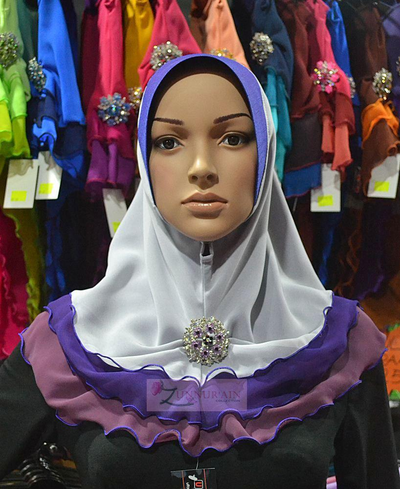 Tudung Chiffon 3 Layer ~~Paddle Pop~~ PP015