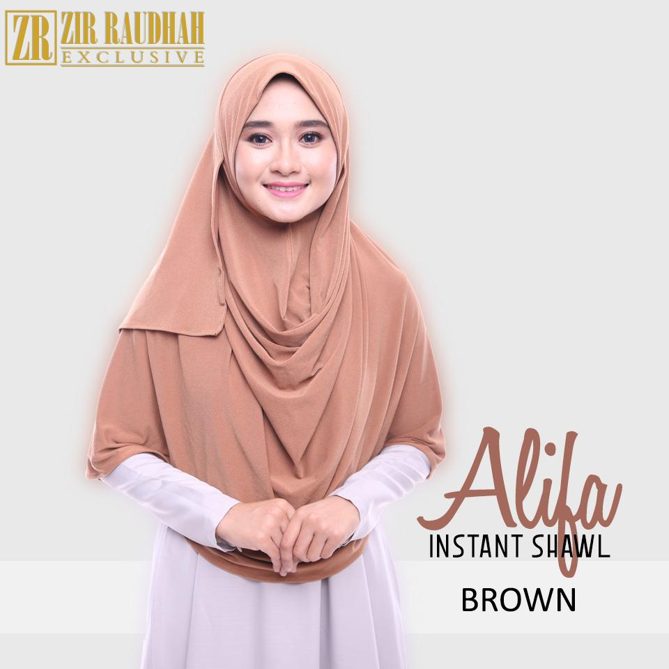 Tudung Labuh Instant Shawl 2 muka Double Loop-Alif (end 2/23/2017 1:00