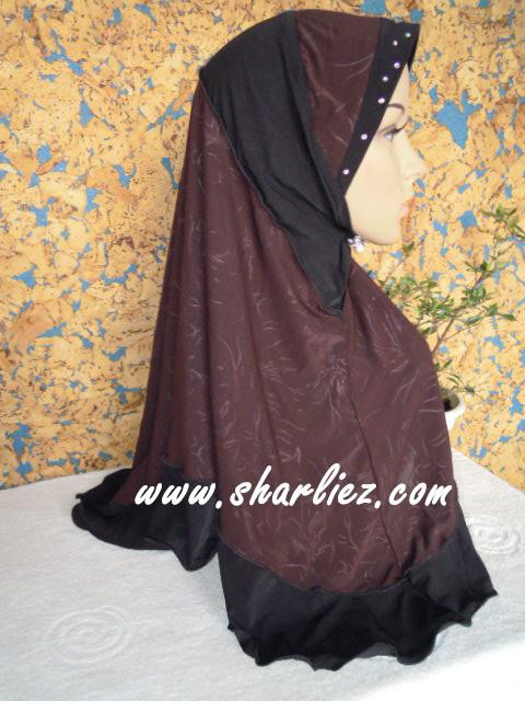 Tudung & Shawl with beads/diamond 2