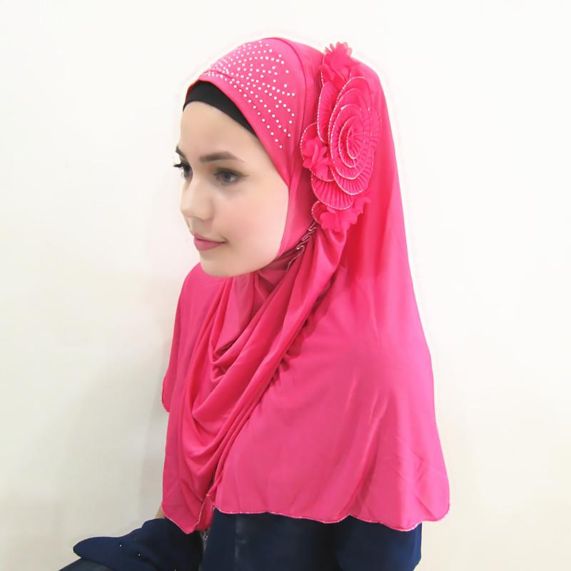 Tudung & Shawl with beads/diamond flower 2