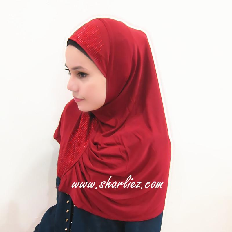 Tudung & Shawl  beads diamond plain 2