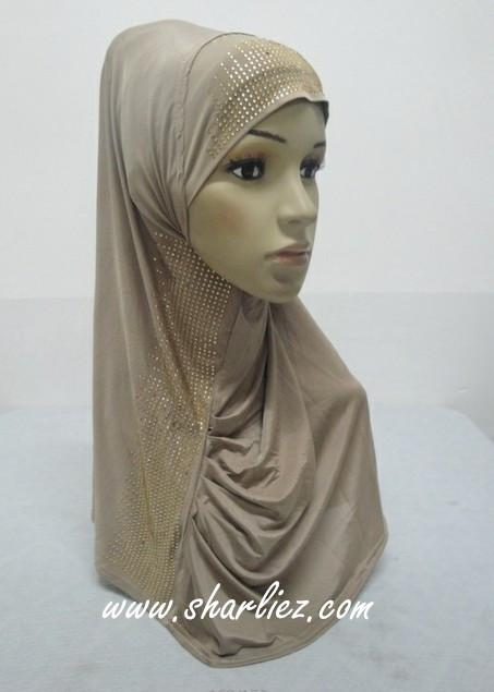 Tudung & Shawl  beads diamond plain