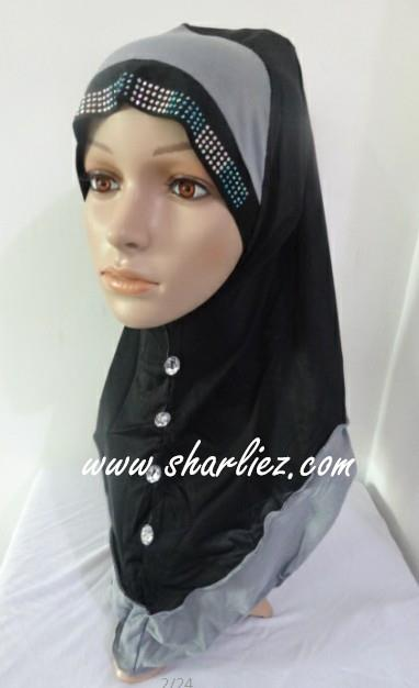 Tudung & Shawl button beads diamond