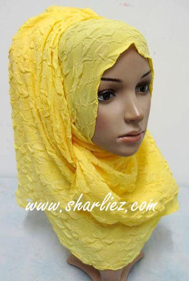 Tudung & Shawl crease plain big size 2