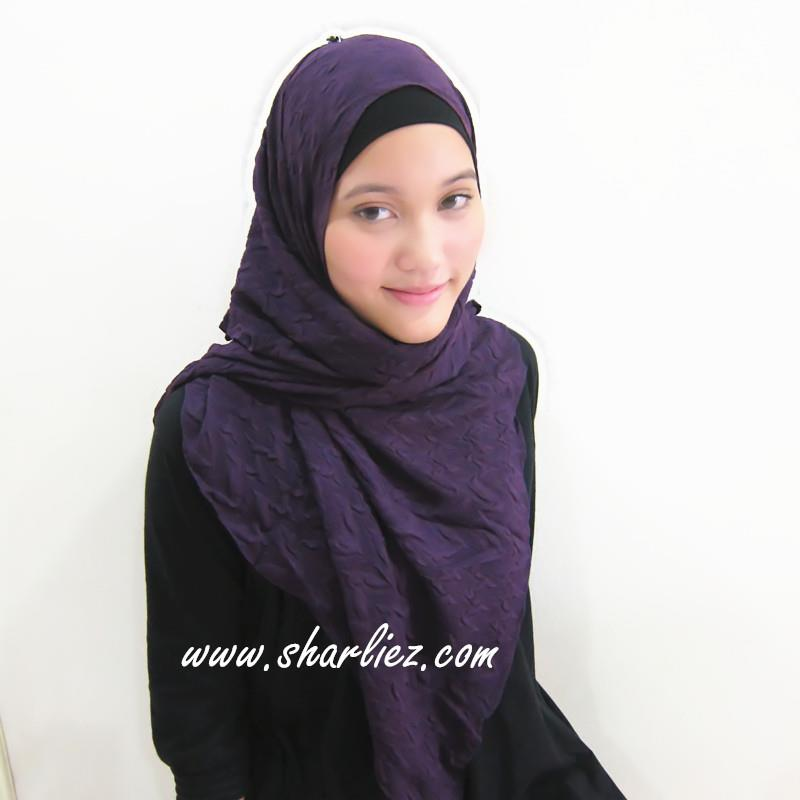 Tudung & Shawl crease plain big size 3