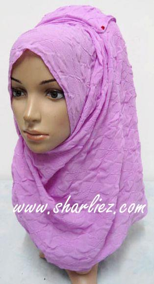Tudung & Shawl crease plain big size