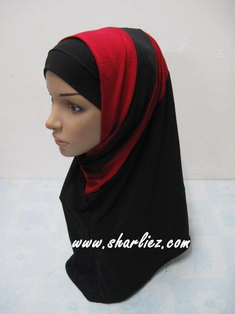 Tudung & Shawl double colour double pattern 2