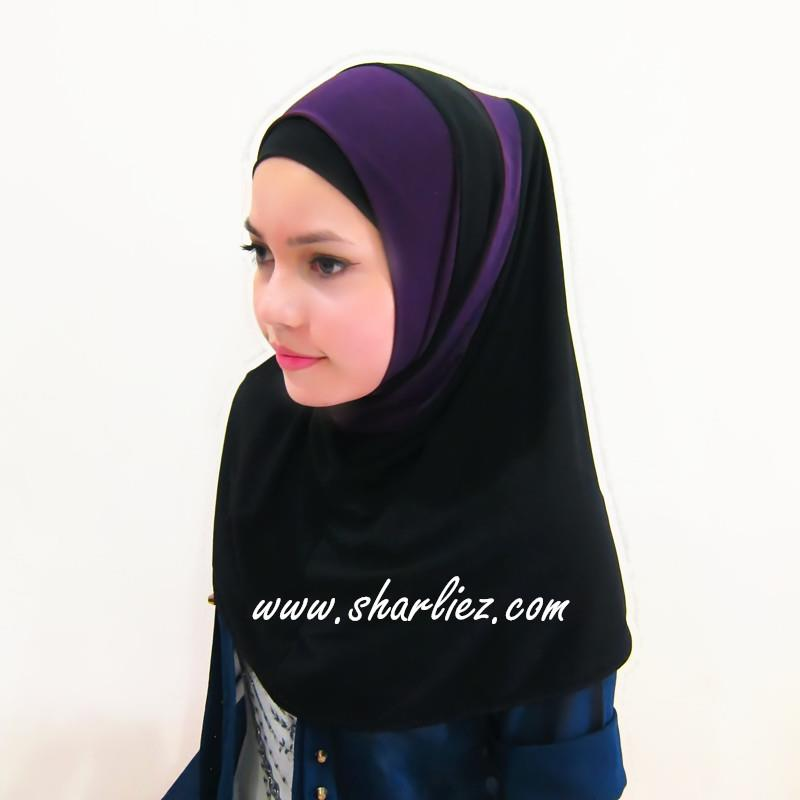 Tudung & Shawl double colour double pattern 3