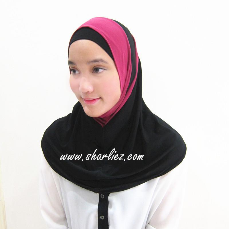 Tudung & Shawl double colour double pattern 4